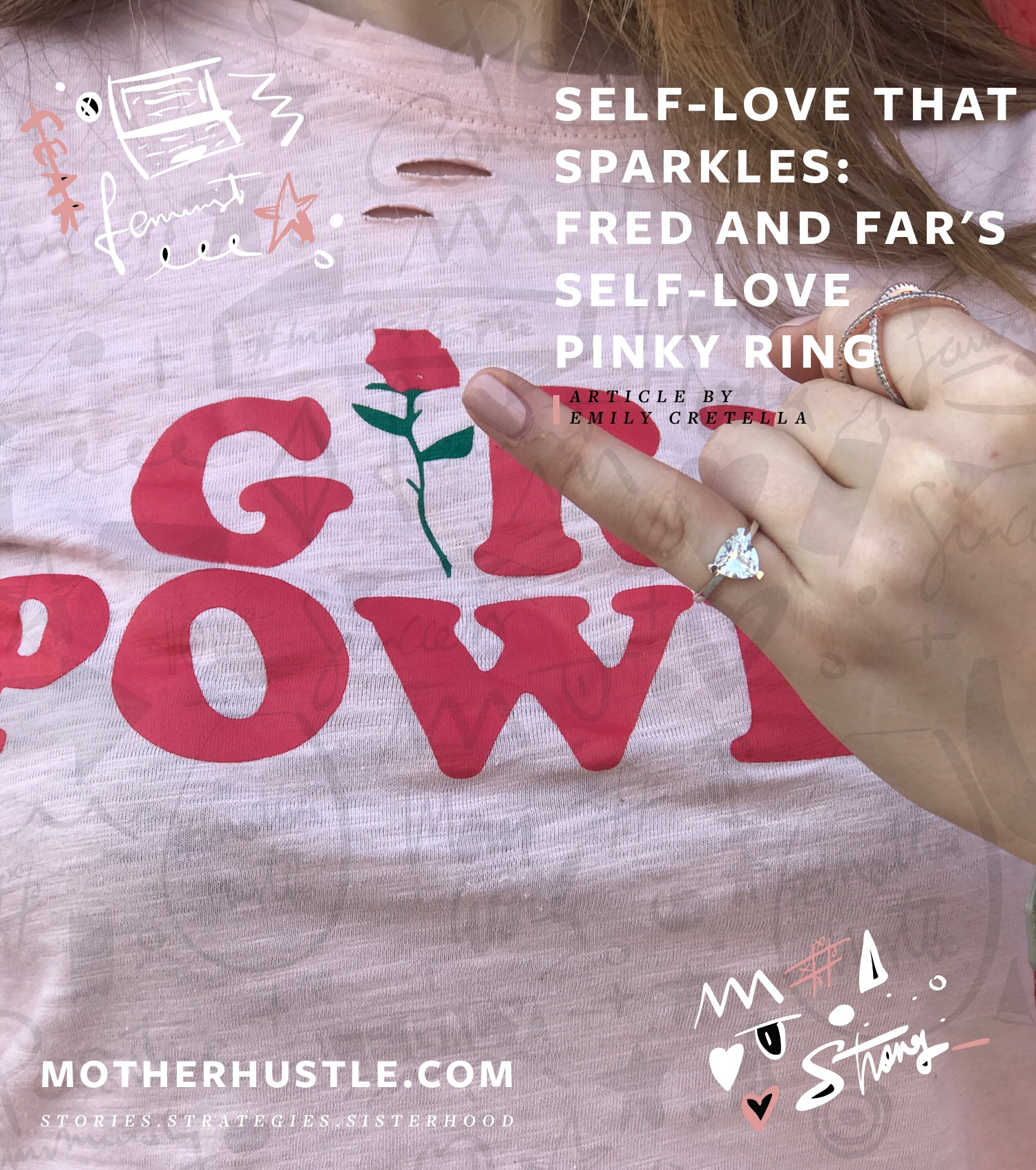 Self-Love That Sparkles- Fred And Far's Self-Love Pinky Ring - MotherHustle Fab Finds