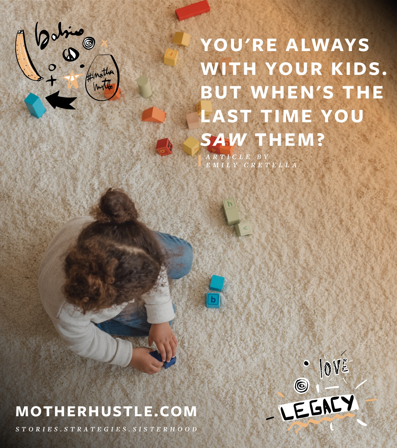 You're Always With Your Kids. But When's The Last Time You *Saw* Them? - by Emily Cretella for MotherHustle